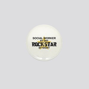 Social Worker Rock Star Mini Button