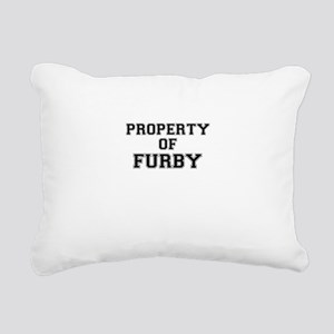 Property of FURBY Rectangular Canvas Pillow