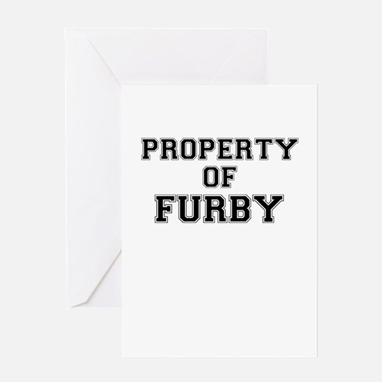 Property of FURBY Greeting Cards