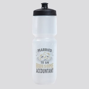 Married To An Awesome Accountant Sports Bottle