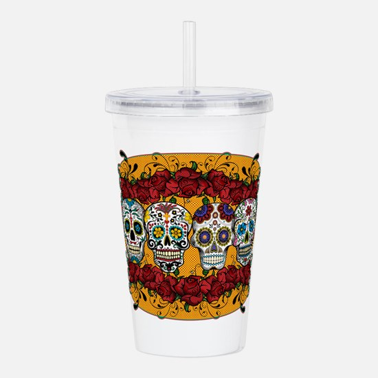 SUGAR AND ROSES Acrylic Double-wall Tumbler