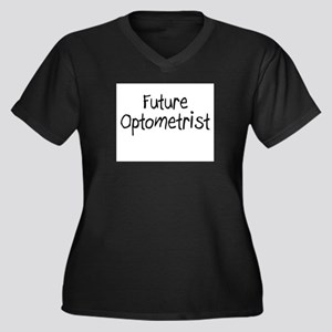 Future Optometrist Women's Plus Size V-Neck Dark T