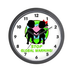 Stop Global Warming Wall Clock