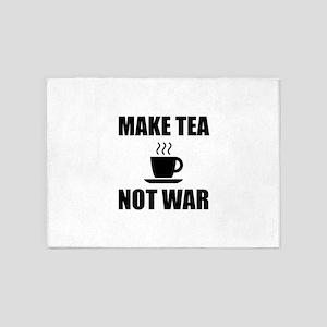 Make Tea Not War 5'x7'Area Rug