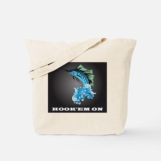 Blue Marlin Jump Tote Bag