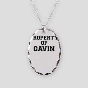 Property of GAVIN Necklace Oval Charm