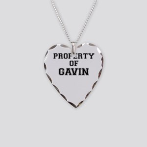 Property of GAVIN Necklace Heart Charm