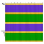 Mardi Gras Stripes Shower Curtain
