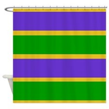 Mardi Gras Stripes Shower Curtain