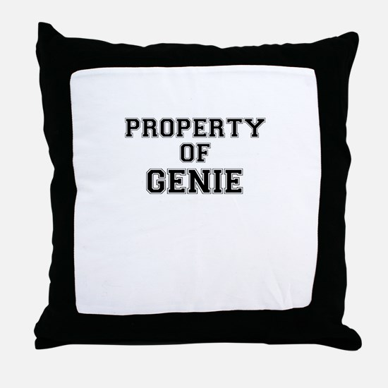 Property of GENIE Throw Pillow