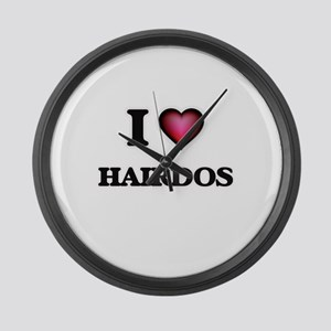 I love Hairdos Large Wall Clock