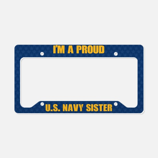 U.S. Navy Sister License Plate Holder