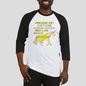 Unicorns Support Bone Cancer Aware Baseball Jersey