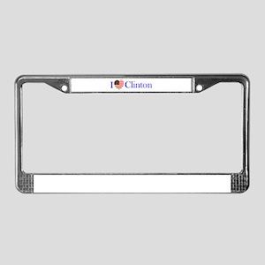 I Love Clinton! License Plate Frame