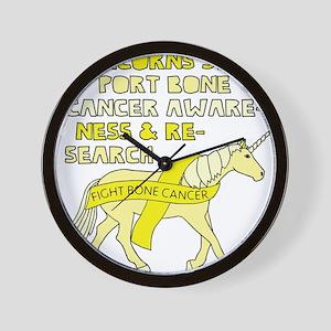 Unicorns Support Bone Cancer Awareness Wall Clock