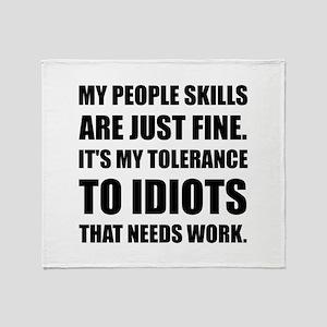 People Skills Idiots Throw Blanket