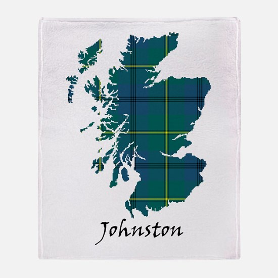 Map - Johnston Throw Blanket