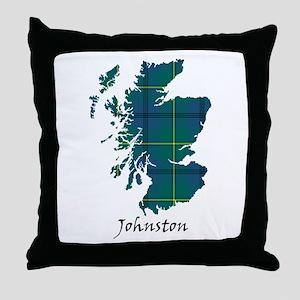 Map - Johnston Throw Pillow
