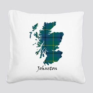 Map - Johnston Square Canvas Pillow
