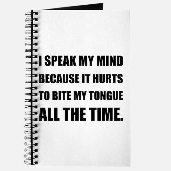 Speak My Mind Bite Tongue Journal