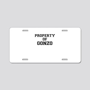 Property of GONZO Aluminum License Plate
