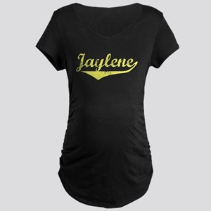 Jaylene Vintage (Gold) Maternity Dark T-Shirt