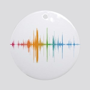 viyh soundwave horizontal Round Ornament