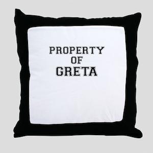Property of GRETA Throw Pillow