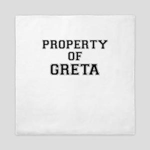 Property of GRETA Queen Duvet