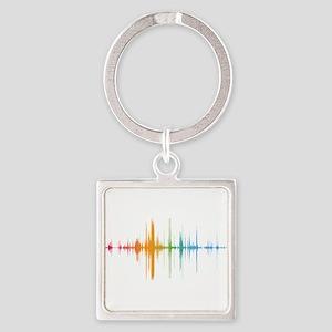 viyh soundwave horizontal Keychains