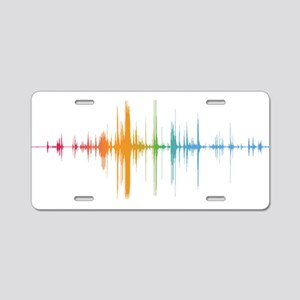 viyh soundwave horizontal Aluminum License Plate