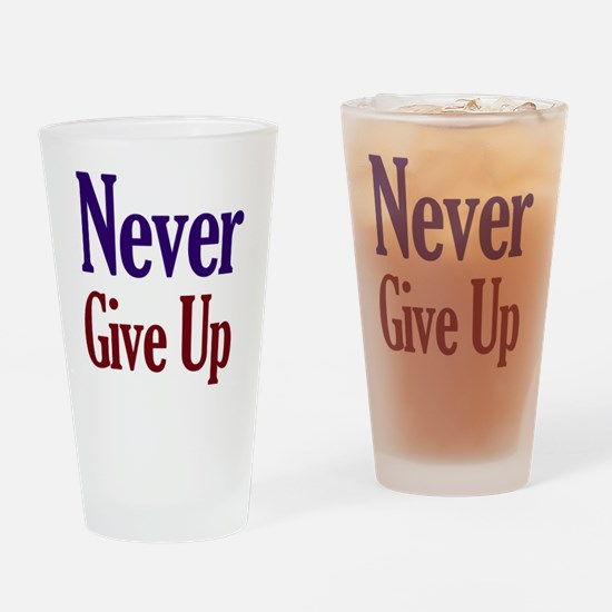 Unique Never give up skate Drinking Glass