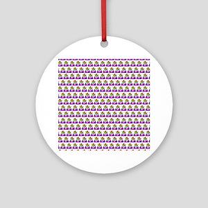 Princess Crown Rainbow Emoji Poop Round Ornament