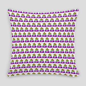 Princess Crown Rainbow Emoji Poop Everyday Pillow