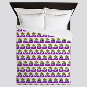 Princess Crown Rainbow Emoji Poop Queen Duvet