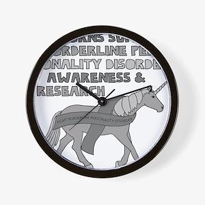 Unicorns Support Borderline Personality Wall Clock