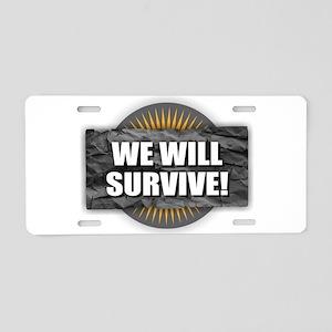 Survive Aluminum License Plate