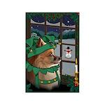 Cutest Christmas Dog Rectangle Magnet