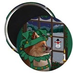 """Cutest Christmas Dog 2.25"""" Magnet (100 pack)"""