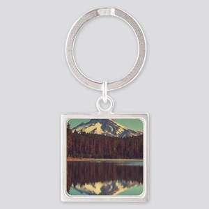Mount Hood Square Keychain