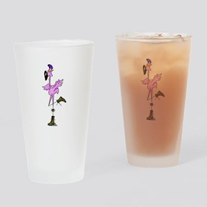 Punk Flamingo - Clyde Drinking Glass