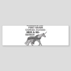 Unicorns Support Brain Cancer Aware Bumper Sticker