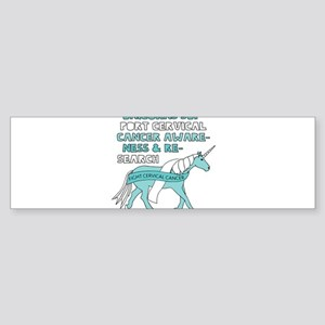 Unicorns Support Cervical Cancer Aw Bumper Sticker