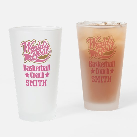 Basketball Coach Personalized Gift Drinking Glass