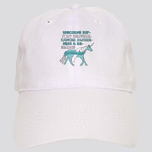 Unicorns Support Cervical Cancer Awareness Cap