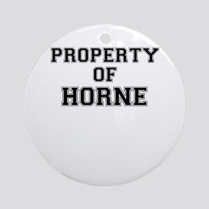 Property of HORNE Round Ornament