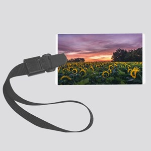 Kansas Sunflower Sunrise Luggage Tag