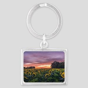 Kansas Sunflower Sunrise Keychains
