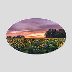 Kansas Sunflower Sunrise Wall Decal