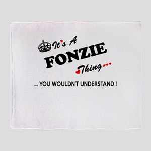 FONZIE thing, you wouldn't understan Throw Blanket